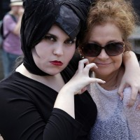 Allycia as Maificent and producer, Veronica having some fun